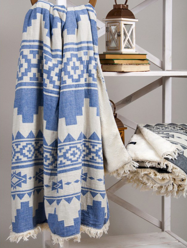 Плед микроплюш Barine Rug Throw Denim 125x170
