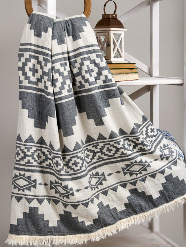 Плед микроплюш Barine Rug Throw Black 125x170