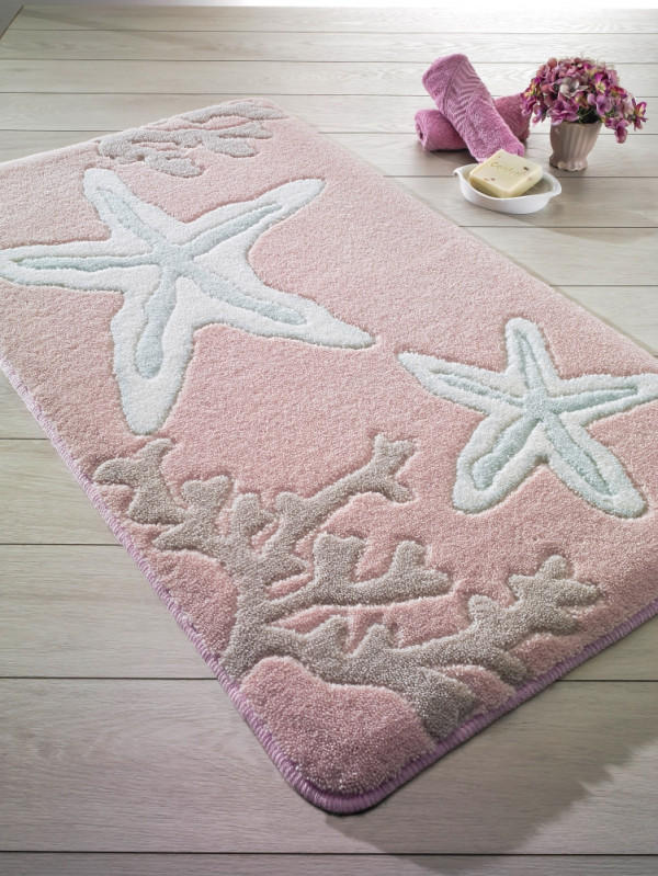 Коврик для ванной Confetti Little Star Pink (Pembe) 80x140